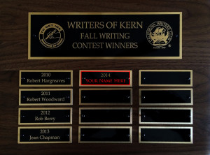 Writers of Kern Fall Writing Contest